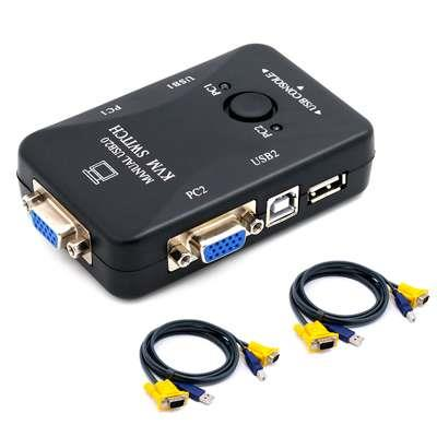 KVM USB 2X1 VGA+USB/CABLES MANUAL