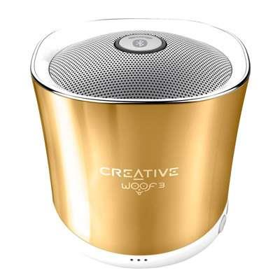 PARLANTE WOOF3 BLUETOOTH GOLD CREATIVE