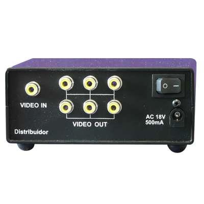 DISTRIBUIDOR Y AMPLIF 1 X 6 VIDEO