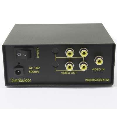DISTRIBUIDOR Y AMPLIF 1 X 4 VIDEO