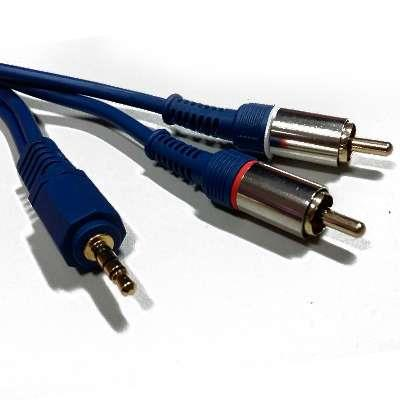 CABLE 3.5ST X 2 RCA 1.5MTS PURESONIC H